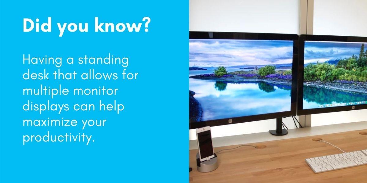 Standing Desks Multiple Monitors Increase Productivity
