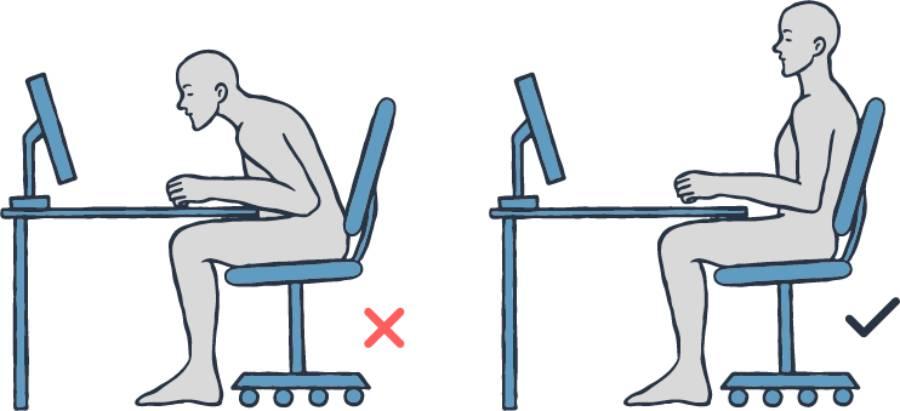Good vs Bad Desk Sitting Posture