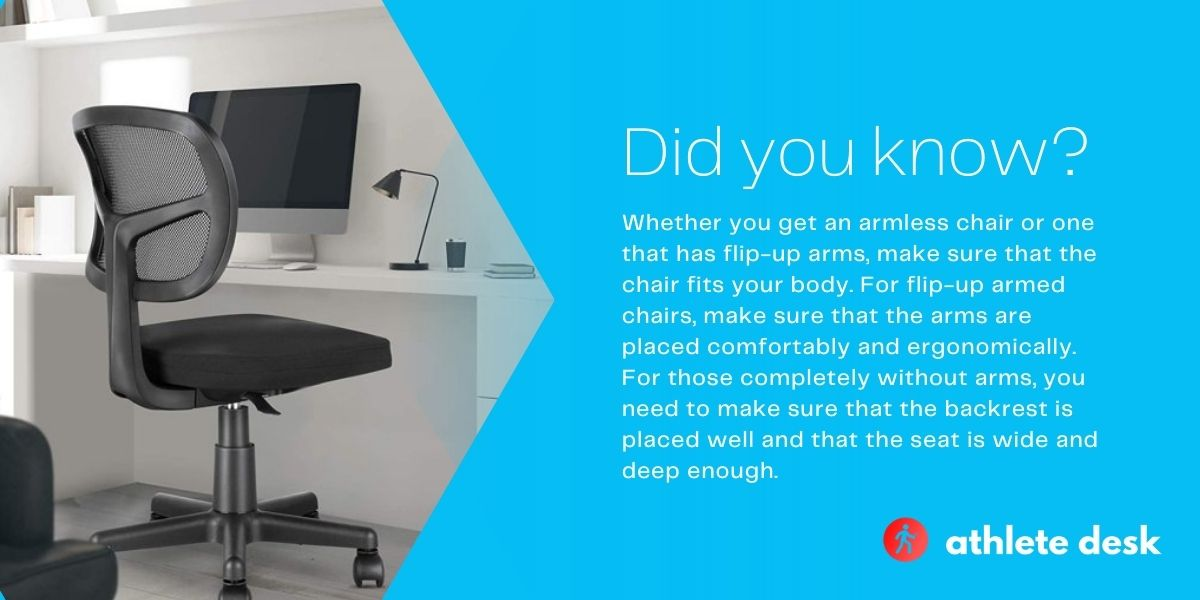 Best armless office chairs