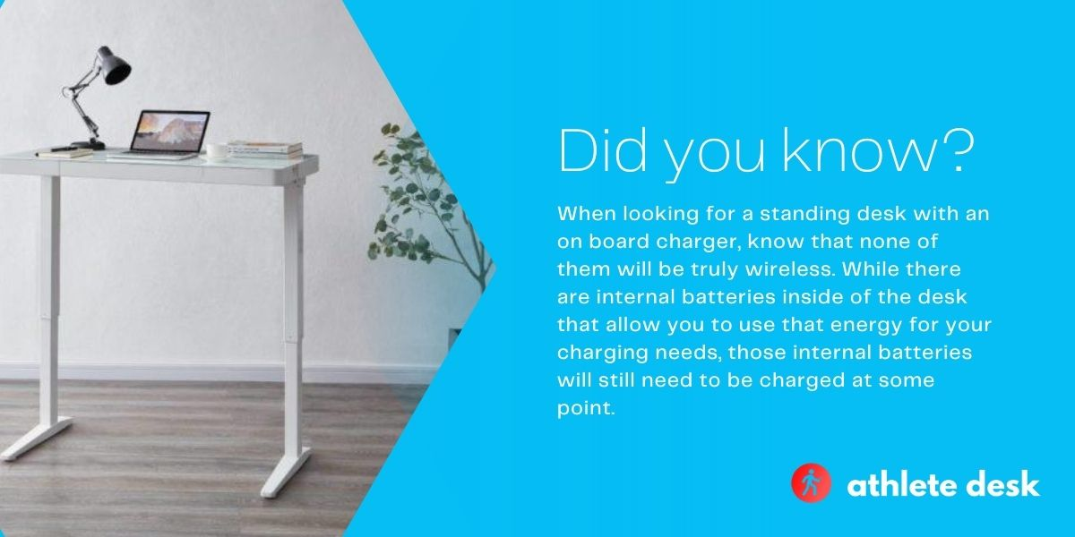 best standing desk with wireless charger