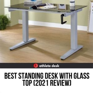 best standing desk with glass top
