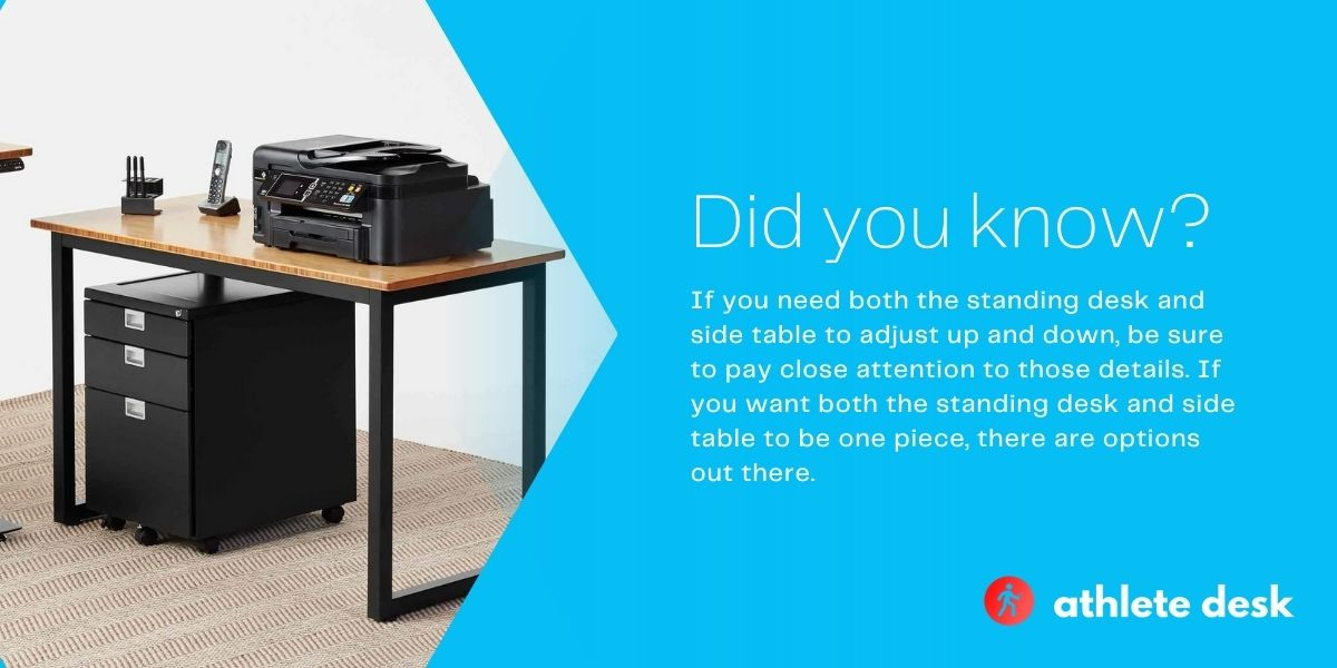 best standing desk with side table