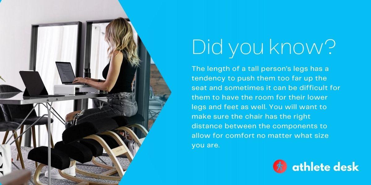 kneeling chair desk height